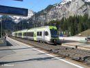 BLS RABe 535 105 mit BLS RABe 525 XXX als RE Lötschberger einfahrend in Kandersteg von Brig in Ri Bern