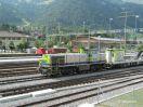 BLS Am 843 502-6 in Frutigen als Lok für Bau- und Tunneldienst