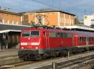 111 040-2 in Passau Hbf, ankommend am Schluß RE 4074, zurück als ZLok RE 4081 nach München Hbf
