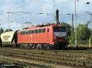 150 055-2 vor einem Güterzug in Ludwigsburg