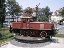 E 63 02 als Denkmallok während der Jubiläumsausstellung in Nürnberg
