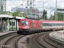 ÖBB 1116 187 vor EC 113 Frankfurt (M) - Schwarzach St. Veit durchfahrend in Stuttgart-Feuerbach