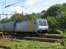Railpool 185 704 mit vmtl 34897 ausfahrend in Varberg Ri Süden